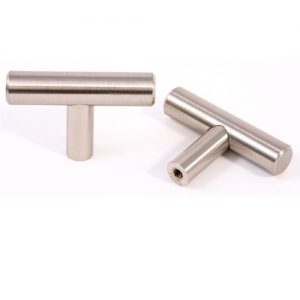 FK-102.SN Bar Pull Knob 2 in. OL x 12mm Dia Satin Nickel (170)
