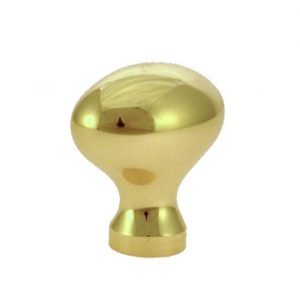 FT39392-PB-31 - 31mm FOOTBALL KNOB+SCR/POL.BRS (68)