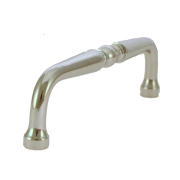 FT39604-PC-96 - 96mm C/C Solid Brass Chrome Pull (75)