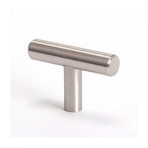 "BER9435-2BPN KNOB 2"" T BAR BRUSHED NICKEL"